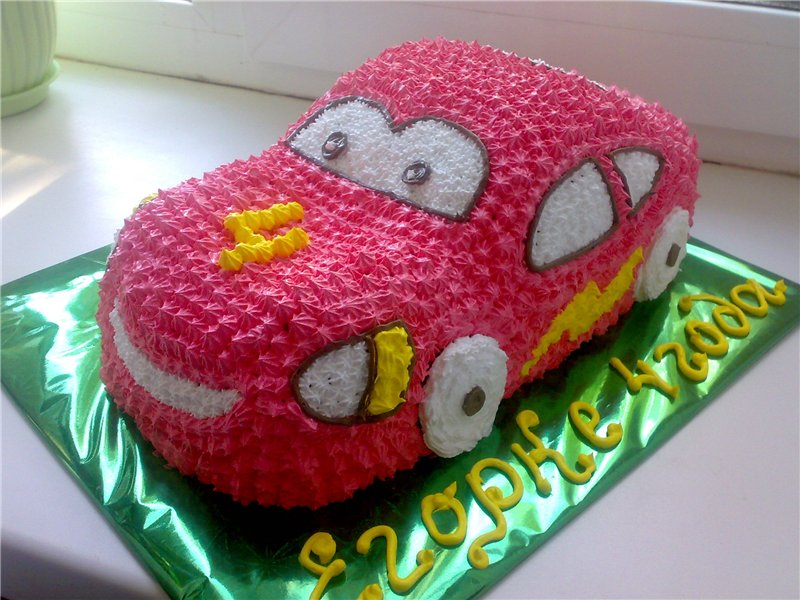Торт детский для мальчика из крема фото