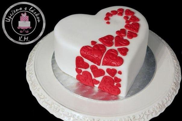 Торт сердце из мастики фото