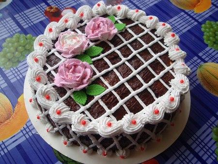 Как украсить сливками торт в домашних условиях