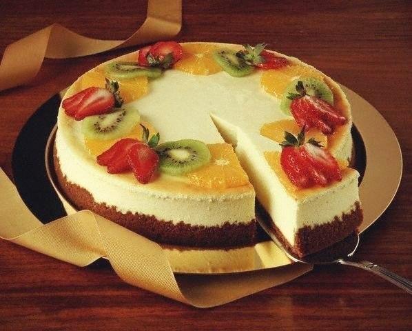 Торт без выпечки суфле с фруктами рецепт 169