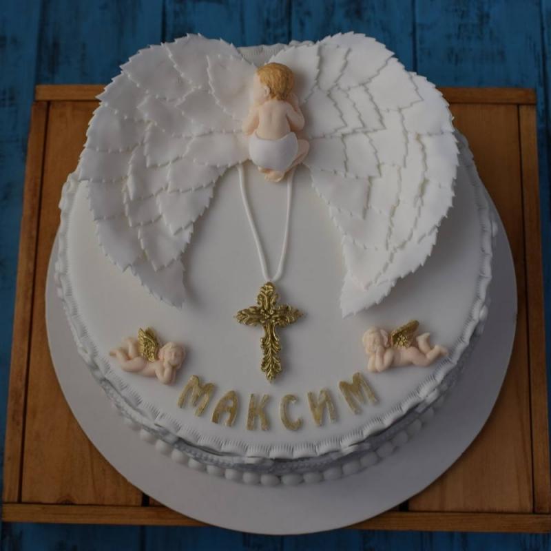 Фото как украсить торт на крещение