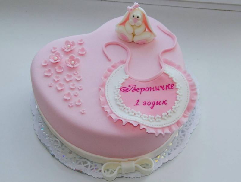 Торт из мастики на годик своими руками девочке