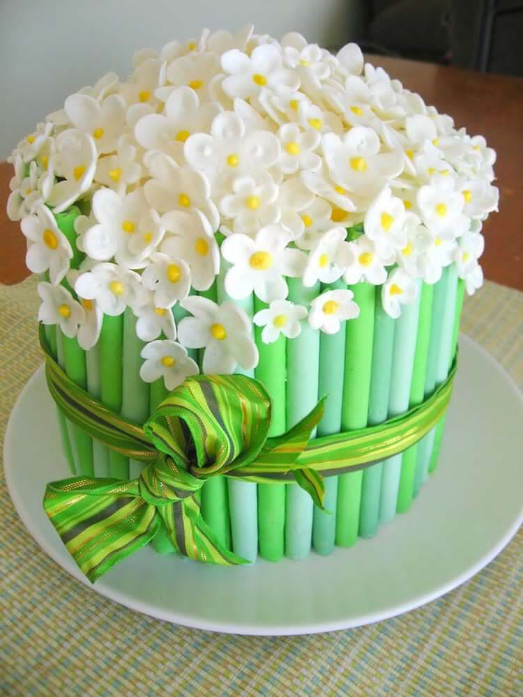 Торт из мастики с цветами своими руками 231